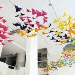 Бабочки из бумаги на стену